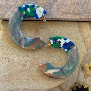Acrylic multi colored hoops